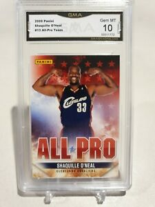 2009-10 PANINI SHAQUILLE O'NEAL ALL-PRO INSERT #13. GMA 10