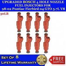 8x UPGRADED BOSCH 30LB 4 Hole Fuel injectors for 2004 Pontiac GTO 5.7L V8