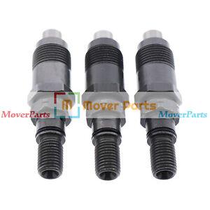 3PCS Fuel Injectors for Yanmar 3TNE68-UMFP 3TNA68L-UWD Engine