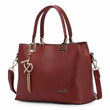 Fashion Women Handbag PU Leather Satchel Shoulder Bag Tote Lady Messenger Purse