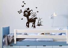 WD Wandtattoo REHKIDS EULE SCHMETTERLINGE Wandsticker Kinderzimmer Aufkleber