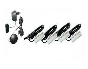 LED clip Glasbodenbeleuchtung Esszimmer 4er Set Kunststoff Kalt-weiß