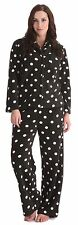 Tom Franks Ladies Spotty Fleece Long Pyjamas Set