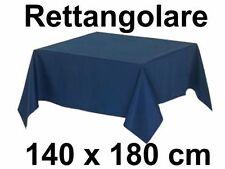 Tovaglia Cotone 140 X 180 cm Tinta Unita RETTANGOLARE per 6 persone 10 Colori
