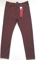 Levis 502 Chino Pants Mens Straight Leg Twill / Merlot (Various Sizes) -NWT