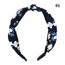 Women Headband Twist Hairwrap Bow Knot Cross Tie Velvet Headband Hair Band Hoop