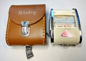 GOSSEN SIXTY COLOR FINDER  Light Meter + Leather Case - Working Vintage Germany