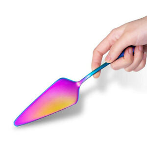 Premium Stainless Steel Rainbow Cake Shovel, Pizza Cutter Server, Baking Tool