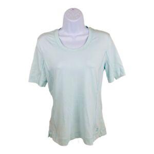 Tommy Bahama 18 Golf Womens T-Shirt Blue Stretch Scoop Neck Short Sleeve M