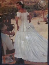 Jasmine Haute Couture SILK WEDDING DRESS Sz 12 Beads, Sequins, Lace,Off Shoulder