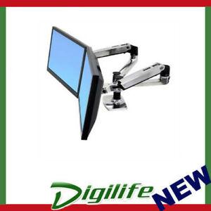 Ergotron LX Dual Side by Side Arm Desk Mount PolishedAluminium