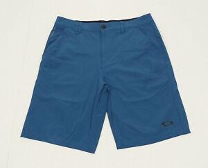 Oakley Take Pro Blue Regular Fit Nylon Casual Golf Shorts Mens 32