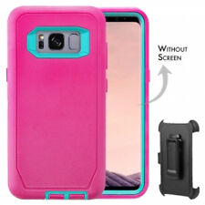 For Samsung Galaxy S8 Plus Defender Case Cover[Clip Fits Otterbox] PINK-TEAL