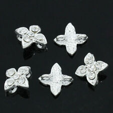 "10PCs Spacer Beads Slider With Rhinestone 2 Holes 13mm x 10mm( 4/8""x 3/8"")"