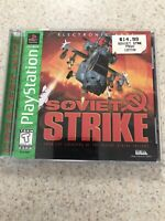 SOVIET STRIKE PS1 PLAYSTATION 1 COMPLETE GAME CIB GAME CASE MANUAL TESTED WORKS