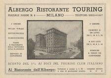 Z1159 Albergo Ristorante TOURING - Milano - Pubblicità d'epoca - 1933 Old advert