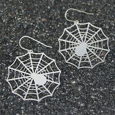 Spider Earrings, spiderweb earrings, halloween earrings, womens stainless steel