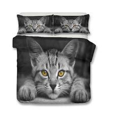 Novelty Gift Cool Astronaut Cat Bedding Duvet Quilt Cover Set Single Queen King