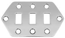 More details for jaguar guitar small slide switch plate chrome fits fender no screw included