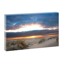 Meer Bild Strand Fotoleinwand  Wandbild Leinwand Poster XXL 120 cm*80 cm 483