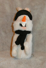"WARNER BROS BUGS BUNNY PLUSH BEAN BAG IN SNOWMAN OUTFIT 9"" MWT CUTE"