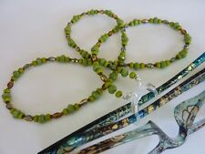 Wattle Green Beaded Spectacle Glasses Cord for Eye wear / Sun Glasses