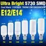 E14 E12 5730 SMD LED Leuchtmittel Lampen Glühbirne Energiespar Birne 7W-25W 220V
