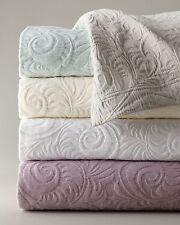 NEW SFERRA Hannah Aqua Cotton Matelasse Blanket Quilt COVERLET SHAMS Queen King