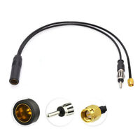 FM/AM DAB + Car Radio Active Antenna Aerial Splitter Adapter Cable SMA Converter