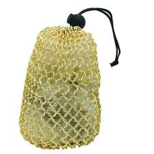 Stainless Steel Chainmail Dice Bag - Gold by Norse Foundry