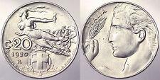 20 CENTESIMI 1920 REGNO D'ITALIA VITTORIO EMANUELE III Q.Fdc/Fdc #9914