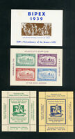 US Stamps Lot of 4 Clean 1938 Exhibition Sheets