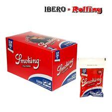 Filtros Smoking slim long. 10 bolsas de 120 filtros largos finos 6mm