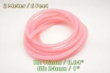 2 METRE CLEAR PINK SILICONE VACUUM HOSE ENGINE BAY DRESS UP 16MM FIT MAZDA