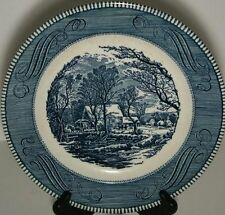 3 Royal USA Currier Ives  Old Gristmill Dinner Plates