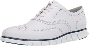 Mens Cole Haan Zerogrand Wing Oxford - Optic White Leather, Size 8M [C32123]