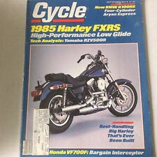 Cycle Magazine Harley FXRS Low  Glide BMW k100rs September 1984 061717nonrh2