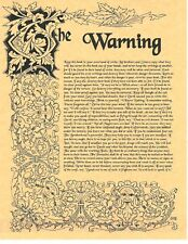 Book of Shadows Spell Pages ** Warning about Wicca ** Wicca Witchcraft BOS