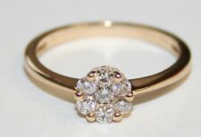 Bargain 9ct Yellow Gold Diamond Engagement Ring 0.35cts Size N