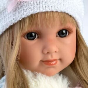 poupée réaliste Elena  yeux bleus foncés de miguel llorens neuf