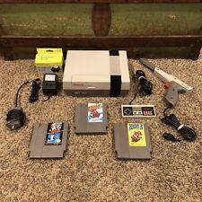 Original NINTENDO NES Console Zapper Bundle w/ SUPER MARIO BROS 1 2 & 3 games