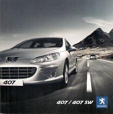 Peugeot 407 Saloon & SW 2009-10 UK Market Sales Brochure