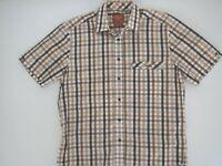 RM WILLIAMS Mens Longhorn Shirt Size M Short Sleeve 100% Cotton Reg Fit NWOT