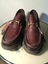Kickers loafers 1980's new old stock,chocolate brown.mens sz 8 eu42
