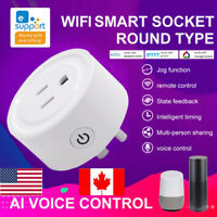 WiFi Smart Plug Smart Power Socket Switch Voice Control US Plug for Alexa Google