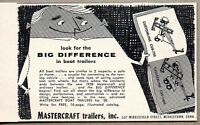 1958 Print Ad Mastercraft Boat Trailers Middletown,CT