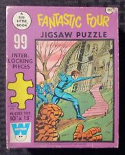 """1968 FANTASTIC FOUR Jigsaw Puzzle FN+/VG Complete 99 Pieces Whitman 10x13"""""""