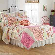 Dena Nostalgia Camille KING Quilt Set Two Decorative Pillows Shabby Chic Floral