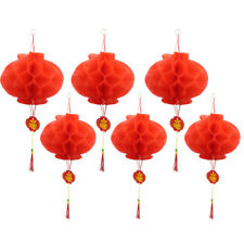 20pcs 2 Sizes Chinese New Year Red Paper Lanterns Chinese Hang Lantern Decor UK