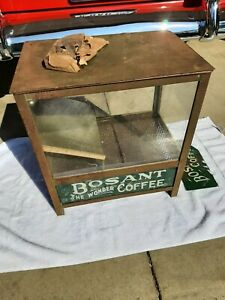 """ANTIQUE COUNTRY STORE LIGHTED COFFEE BEAN DISPENSER FRANKFORD PA. """"BOSANT COFFEE"""
